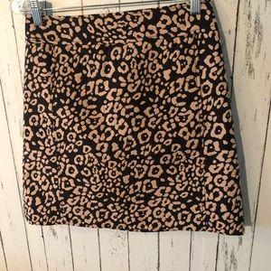 3 for $25! Loft leopard skirt